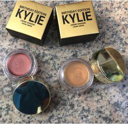 Wholesale Eyeshadow 5g - 2017 Kylie Jenner Eyeshadow Birthday Edition 5g Luxury Creme Shadow Copper Rose Gold Naked Eye Makeup Metallic Cream Eyeshadow Free Shipping