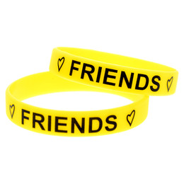 Wholesale friends forever bracelets - Wholesale 99PCS Lot Best Friends Forever Silicone Bracelet Wear This Latex-Free Wristband To Support The One You Love
