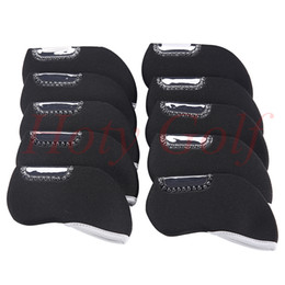 Wholesale Brands Golf Clubs - Free shipping 1PCS window Brand New Neoprene Iron Golf Club Head Covers Headcover Set of 10