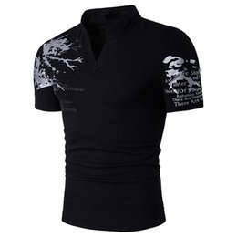 Wholesale Bird Printed Short Sleeve - T-Bird Polo Shirt Men 2017 Brand Clothing Pattern Printing Polo Shirt Cotton Short Sleeve Poloshirt Men S-XXL B69