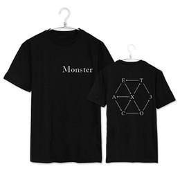 Wholesale Exo Shorts - Wholesale-kpop exo kar sehun xiumin baekhyun terra sticker t-shirt women t-shirt women exo t shirt harajuku exo