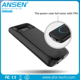 Wholesale Power Case For Mobile Phones - Mobile Phone case 5000mah Power Case Battery Charger For Samsung S8 Battery Charging Case Portable Battery