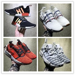 Wholesale Hongkong Shoes - Perfect Boost NMD Shoes Red Apple HongKong Vlone Black Zebra NMD R1 Real Boost Men Women Running Shoes Sports Sneakers