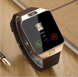 Wholesale Tf Card Camera - smart watches smartwatch bluetooth watch phones for men and women DZ09 support SIM Card TF card for Android smart phone
