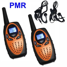 Wholesale Outdoor Family Activities - 2pcs Family Walkie Talkies Handheld Interphone PMR446 Radio Transceiver 2 Way Radios for Outdoor Activity with Earphone