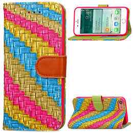 rainbow wallet case Coupons - Rainbow Abstract Stand Wallet Case for iPhone 6 6s 7 7 Plus With Photo Frame ID Card Slots Holder PU Leather Phone Cover Flip Cases Buckle