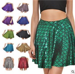 Wholesale Scale Skirt - Fish Scale Skirt Women Clothing Digital Sexy Skirt Black Mermaid Fashion Gift Polyester 3D Printing Fishtail Skirt DHL Free Shipping