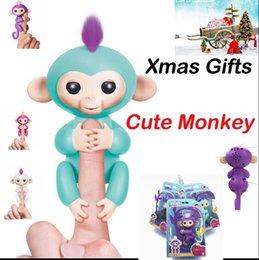 Wholesale Trendy Touch - Presale Fingerlings Interactive Baby Monkey Smart Fingers Electronic Smart Touch Fingers Sound Finger Monkey Christmas Gifts KKA2757