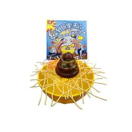 Wholesale Desktop Bowling - CongMingGu Family Jenga Desktop Game Gag Toys Friend Crazy Party Prank Funny Toy Don't Let The Shit Fall Into Bowl Novel Gift