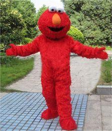 Wholesale Elmo Cartoon Mascot - Fluffy Elmo cartoon dolls mascot costumes props costumes free shipping