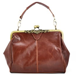Wholesale Retro Vintage Tote - Wholesale-TOYL High quality women formal vintage Doctor bag brown Retro Ladies Shoulder Purse Handbag Cross Body Totes Bag Satchel