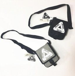 Wholesale Mini Zipper Bags - Palace Bags triangle graffiti black and white covered woman male student postman messenger shoulder bag