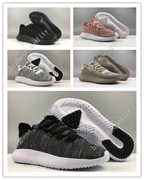 Wholesale Flat Cardboard - Wholesale Men Womens Originals Tubular Shadow Knit Core Black White Cardboard Sneakers Running Shoes 350 boost 3D Sneakers Women US 5-11