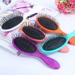 Wholesale Massage Combs - Wet & Dry Hair Brush Original Detangler Hair Brush Massage Comb With Airbags Combs For Wet Hair Shower Brush 160916