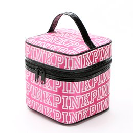 Wholesale Hot Pink Makeup Bag - Hot 2016 New Vitoria sacos FOR women zipper light women's makeup bag VS ladies BAG womens summer PINK big cosmetic box