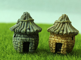 Stone House Miniatures Fairy Garden Decorazioni Micro paesaggi Resin Artigianato Bonsai Figurine Garden Terrarium Accessori supplier garden accessories decoration da decorazione degli accessori da giardino fornitori