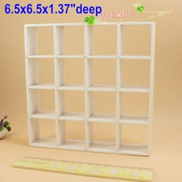 Wholesale Grid Shelves - 1:12 scale Dollhouse Miniatures Wood Bookcase Shelving Mini Display Grid White