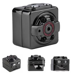 Wholesale Usb Infrared Sensor - New SQ8 Mini Camera Recorder HD Motion Sensor Micro USB Camera Full HD 1080P Mini Camcorder Infrared Night Vision Camera MOQ:10PCS
