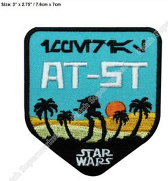 Wholesale Imperial Scout Walker AT ST Star Wars Iron On Patch Rogue One TV film movie series Embroidered sew on shoulder badge clothing