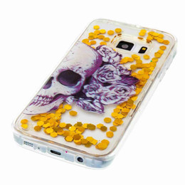 Wholesale butterfly s6 - For Galaxy S7 Edge S6 (A3 A5 J3)2017 J7 J5 2016 Liquid Quicksand Glitter Butterfly Soft TPU Silicon Case Bling Eiffer Tower Lace Owl Moving