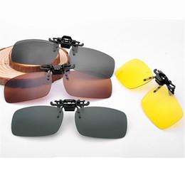 Wholesale Kids Polarized Sunglasses - Wholesale-Men Women UV400 Flip Up Polarized Sunglasses Clip On Myopia Glasses Kids Travel Sun Glasses During Day Night Vision Goggles KIDS