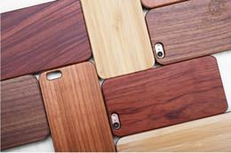 Canada Boîtier en bois pour Apple iPhone 6 6 s plus 7 bambou naturel sculpture design bois avec couverture en plastique Dur bords pour Samsung S8 S7 EDGE S6 Offre