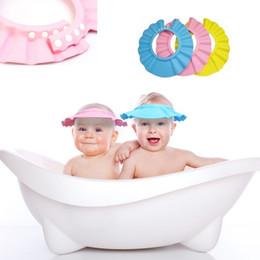 2019 escudos de shampoo para crianças Atacado-Cute New Safe Baby Kid Crianças banho de banho protetor shampoo Cap Hat Shield 1pc desconto escudos de shampoo para crianças