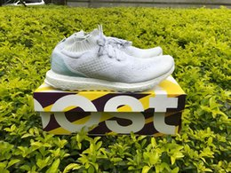 Wholesale 36 X 48 Art - Parley X Ultra Boost Top Quality Boost Factory Shoes Size 36-48 Ocean Bb4073 White Uncaged Limited Version Running Shoes With Original Box