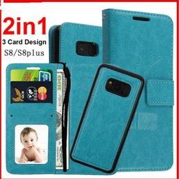 Wholesale Galaxy Note Detachable Case - For Samsung Galaxy S8 s8 Plus note 8 Case 2 in 1 Detachable Wallet Flip Leather Case For Phone X 8 7 Plus 6s 6s Plus Cover Phone Cases