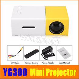 Wholesale Usb Digital Input - YG300 LED Portable Projector 400-600LM 3.5mm Audio 320 x 240 Pixels With HDMI USB AV SD Input Mini Projector Home Media Player