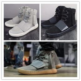 Wholesale Mens High Tops Sneakers - Top Quality Mens Boost 750 Blackout Outdoors Sneaker,Kanye West shoes Hot Selling 750 Boost, Skateboard Shoes,Sneakeheads Shoes High Shoes.