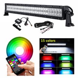 "Wholesale 52 Led Light Bar - 13"" 22"" 32"" 42"" 50"" 52"" bluetooth RGBW 5D led light bars for 4x4 4wd trucks ATV SUV off road led work lights"