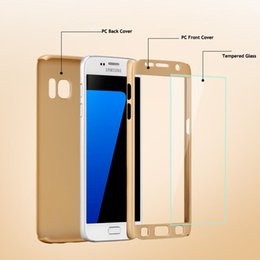 Wholesale Grand Cases - Hybrid 360 Degree Full Body Protection Cover Case For Samsung Galaxy S6 S7 J1 J5 J7 A3 A5 A7 2016 Grand Prime G530 With Tempered Glass