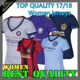 Wholesale Soccer Jersey Galaxy - BEST QUALITY 2017 2018 Chicago Women's Soccer jersey 17 18 Atlanta United New York City FC Orlando City LA Galaxy football shirts Jerseys