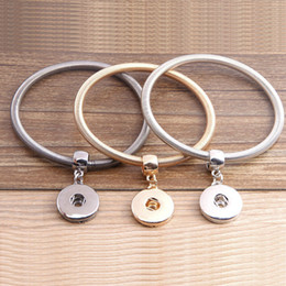 Wholesale Button Wood 18mm - Fashion New Noosa Bracelets Interchangeable 18mm DIY Snap Button Jewelry Noosa Chunks Snap Bracelet 3 Styles