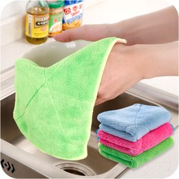 Wholesale Cotton Dishcloths Kitchen Towels - Microfiber Cleaning Double Thicken Cloth Ultra Absorbent Household Towels No Oil Dishcloth Kitchen Towels with Multi Purpose