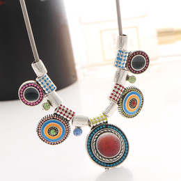 Wholesale Factory Outlets Europe - Bohemia Popular Europe and the United States retro storms Simian drip necklace peacock pendant necklace Factory Outlet wholesale