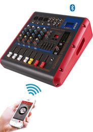 Wholesale Dj Audio Mixers - Freeshipping 500W Powered Amplifier Audio 5 Channel DJ Mixer Amp PMR506 Mezcladora De DJ For Microphone