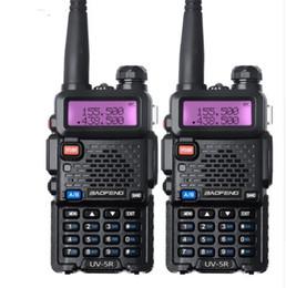 Wholesale Ham Radio Dual - 2Pcs Baofeng UV 5R Walkie Talkie Dual Band UV5R CB Radio FM 128CH VOX Ham Radio Station Transceiver for Hunting Radio Set