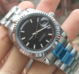 2019 silber umsponnen Silberne Spitzenluxuxmarke Mens-mechanische Edelstahl-automatische Bewegungs-Uhr Sport-Mens-Tagesdatum Selbst-wind passt Sport-Armbanduhr auf günstig silber umsponnen