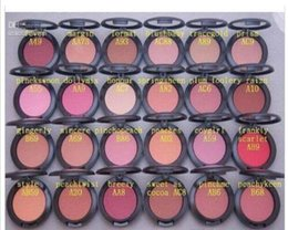 Wholesale red makeup box - Makeup powder Blush with name with IN BOX 6g(50pcs lot)24 Color