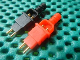 Wholesale Headphone Sennheiser - 2Pair, Gold plated Plugs for DIY Sennheiser Headphone Cables HD600 HD650