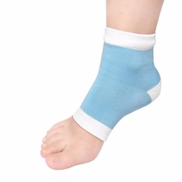 padded heel socks Promo Codes - Wholesale- 2017 New 1pair High Quality Gel Heel Socks Moisturing Spa Gel Socks feet care Cracked Foot Dry Hard Skin Protector New Brand