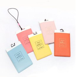 Wholesale Wholesale Leather Luggage - Aircraft Plane Leather Lage Tags Travel Paper Suitcase ID Tag Carrying Case Tag Packet Label Wrap Easily Recognizable Bag Parts