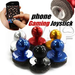 Wholesale Games Android Touch - Mini Tactile Game Controller Mini joystick for iPhone touch or Android Gaming Device cellphone roker sucker With Retail Package