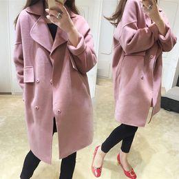 Wholesale Plus Size Medieval - Fashion Long Medieval Trench Wool Coat Women Winter Turn Down Collar Gothic Coat Elegant Women Coat Vintage Female Plus Size 5XL