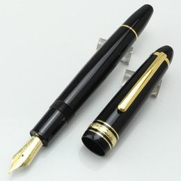 Wholesale Mb Types - High quality black resin and gold fountain pen best gift office school supplies mb pen for writing #149