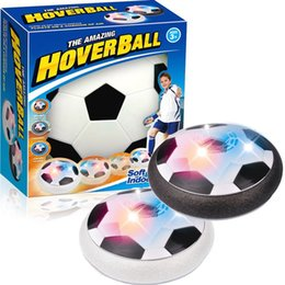Wholesale Plastic Heart Lights Up - Hover Ball LED Kids Air Power Soccer Football Children Toys LED Light Up Indoor Outdoor Disk Ball With Retail package