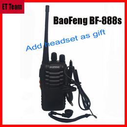 radio baofeng bf 888s Rabatt Großhandels-Heißer baofeng BF-888S Funksprechgerät Comunicador Sender-Transceiver-tragbares Radio BF888s 5W 16CH UHF BF 888S mit Kopfhörer