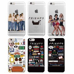 Wholesale Friends Tv Series - Friend TV Show Series Cute and Fashion Transparent TPU Cover Case for iPhone 4 4s 5 5s 5c 6 6s Plus Samsung